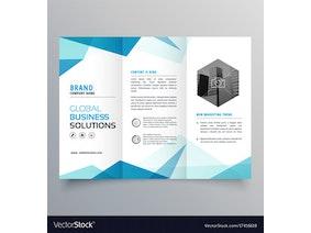 Abstract blue business trifold brochure design vector 17416618.jpg?ixlib=rails 1.1